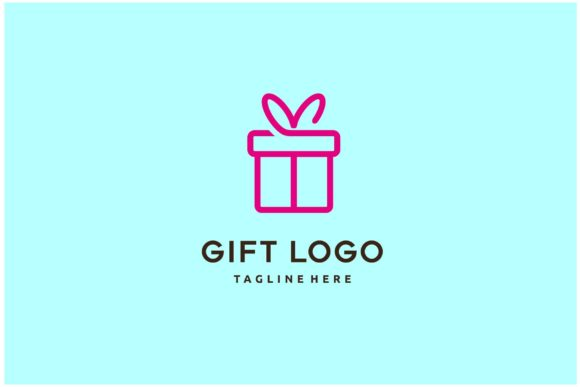 Gift Box with Ribbon Line Logo Icon Graphic Logos By sore88