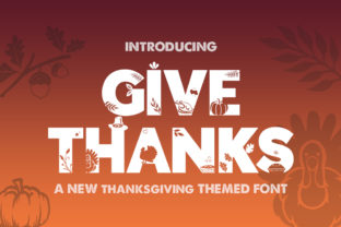 Print on Demand: Give Thanks Silhouette Display Font By Salt & Pepper Designs