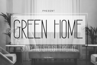 Print on Demand: Green Home Sans Serif Schriftarten von DLetters.std