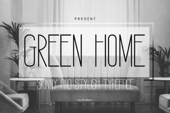 Print on Demand: Green Home Sans Serif Font By DLetters.std