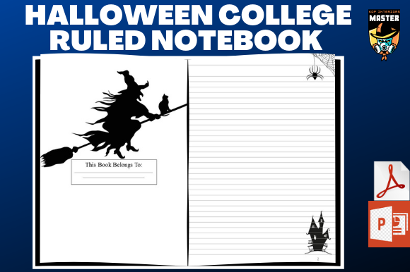 Print on Demand: Halloween  College Ruled Notebook (KDP) Graphic KDP Interiors By KDP_Interiors_Master