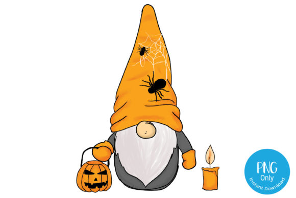 Print on Demand: Halloween Gnome Design Graphic Crafts By Tori Designs