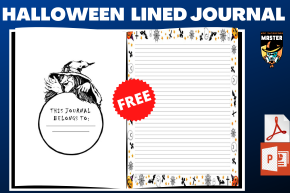 Print on Demand: Halloween Lined Journal (Free Interior) Graphic KDP Interiors By KDP_Interiors_Master