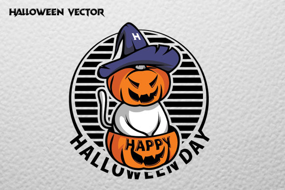 Halloween Pumpkin Illustration Graphic Print Templates By therintproject