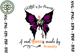 Print on Demand: Halloween Queen Skeleton Butterfly Graphic Print Templates By Cricut Creation