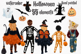 Print on Demand: Halloween Clipart Kids Halloween Graphic Illustrations By LeCoqDesign
