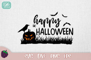 Happy Halloween Print Graphic Crafts By SVGasART