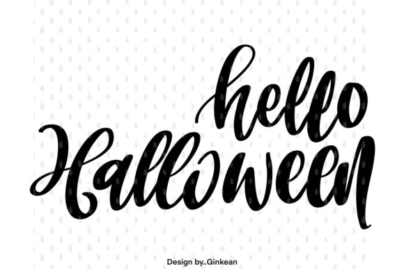 Print on Demand: Hello Halloween Graphic Graphic Templates By Ginkean