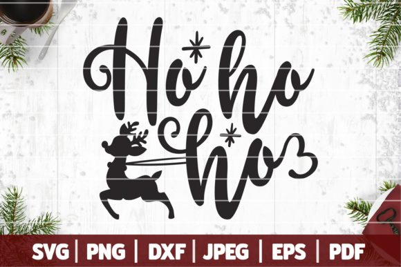 Ho Ho Ho Christmas Graphic Crafts By SeventhHeaven Studios