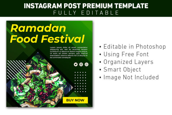 Instagram Post Food Menu Template Graphic Websites By ant project template
