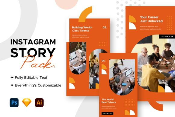 Instagram Story Business Template Graphic Websites By mahative