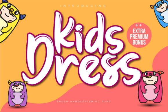 Print on Demand: Kids Dress Display Font By twinletter