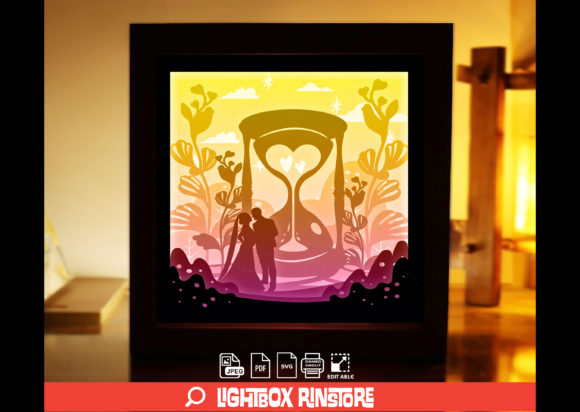Marry Me 3D Paper Cut Light Box Graphic 3D Shadow Box By lightbox.rinstore