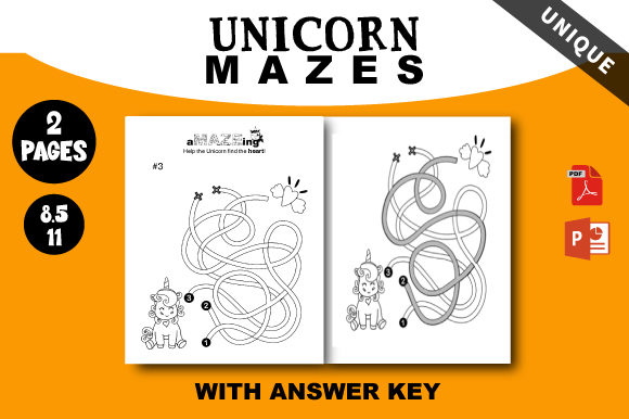 Print on Demand: Mazes Unicorn for Kids (Unique) Design Graphic KDP Interiors By AZ DESIGNS