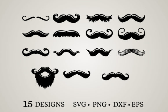 Mustache Bundle Svg Graphic Print Templates By Euphoria Design