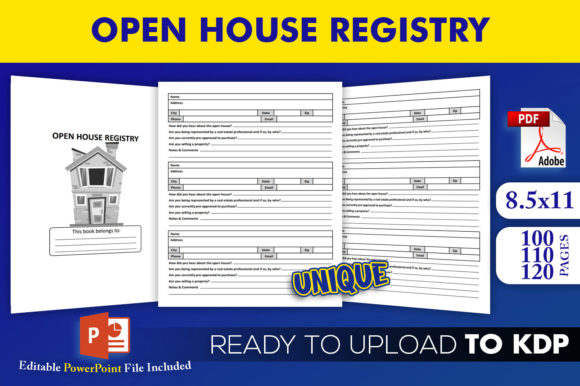 Print on Demand: Open House Registry KDP InteriorTemplate Graphic KDP Interiors By Beast Designer