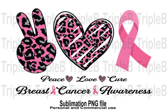 Print on Demand: Peace Love Cure Sublimation Designs Graphic Crafts By TripleBcraft