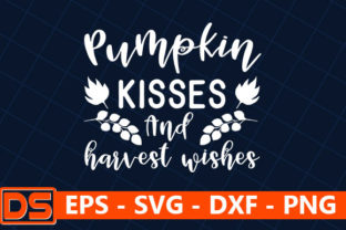 Print on Demand: Pumpkin Kisses and Harvest Wishes Graphic Print Templates By Design Store