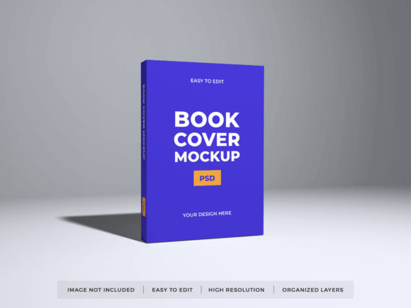Print on Demand: Realistic Book Cover Photoshop Mockup Graphic Product Mockups By dendysign