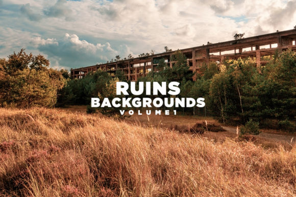 Print on Demand: Ruins Backgrounds Volume 1 Graphic Architecture By Mirco Zett Fonts