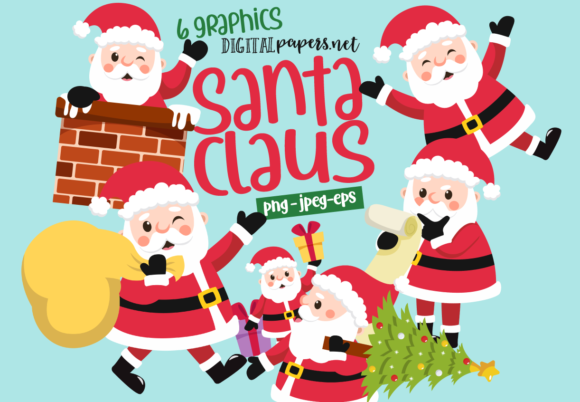 Print on Demand: Santa Claus at Work Graphic Illustrations By DigitalPapers