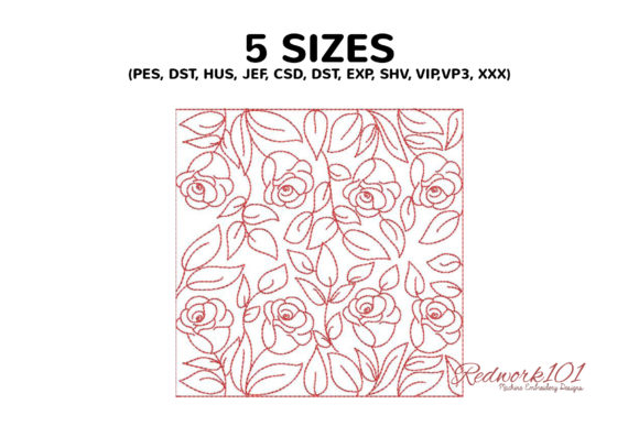 Seamless Pattern with Rose Flower Embroidery Download