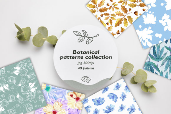 Seamless Patterns Collection. 40 Pattern Graphic Patterns By ksenia.shuneiko