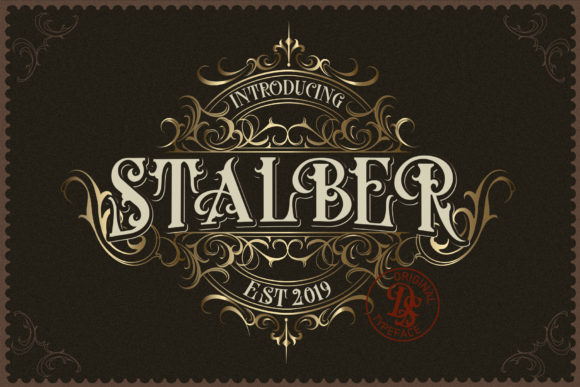 Print on Demand: Stalber Blackletter Font By Dansdesign