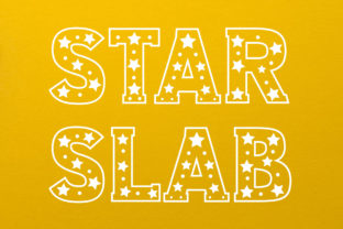 Print on Demand: Star Slab Decorative Font By Vladimir Carrer