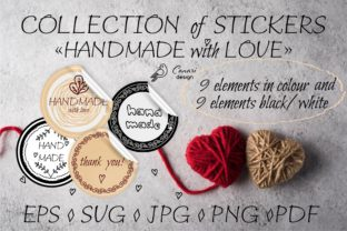 """Stickers """"Hand Made with Love"""" Graphic Objects By sombrecanari"""
