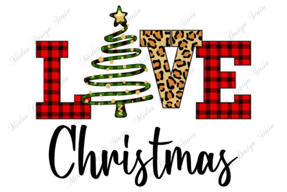 Sublimation - Love Christmas Graphic Crafts By MidasStudio