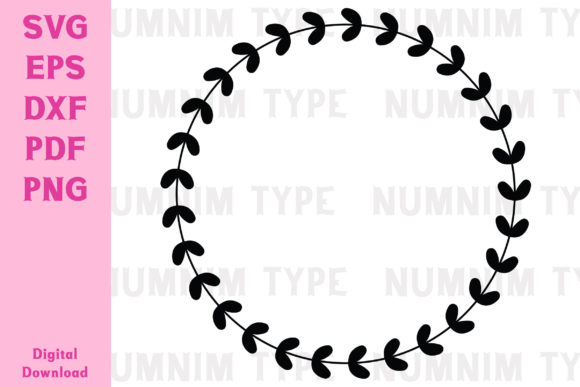 Print on Demand: Sublimation Svg Wreath Simple Circle Graphic Crafts By numnim