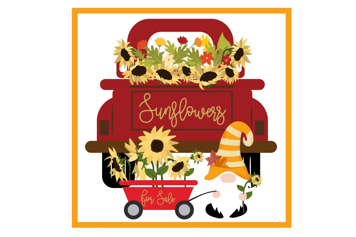 Sunflowers for Sale. SVG File