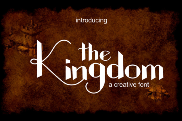 Print on Demand: The Kingdom Display Font By pujalettering