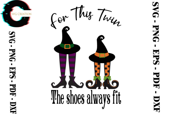 Print on Demand: This Twin the Shoes Always Fit Graphic Print Templates By SVG Creation