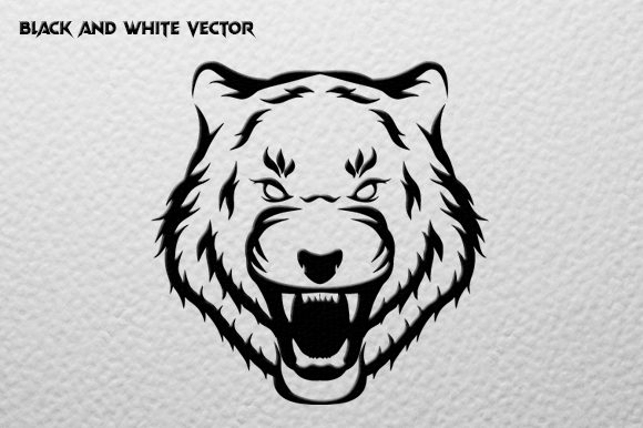 Tiger Head Mascot Graphic Illustrations By therintproject