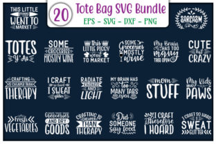 Print on Demand: Tote Bag Quotes Design Bundle Graphic Print Templates By GraphicsBooth