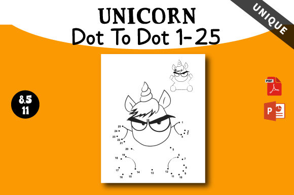 Print on Demand: Unicorn Dot to Dot Activity for Kids Graphic KDP Interiors By AZ DESIGNS