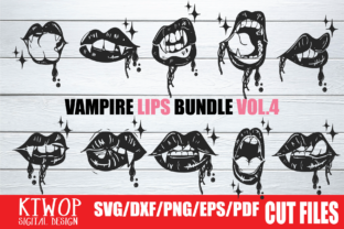 Print on Demand: Vampire Lip Sexy Halloween SVG Bundle Graphic Crafts By KtwoP