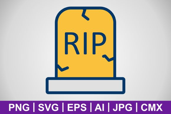 Print on Demand: Vector Grave Icon Graphic Icons By IYIKON