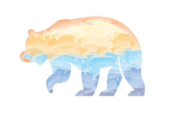 Print on Demand: Water Color Bear Graphic Illustrations By MAMD