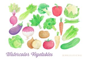 Watercolor Vegetables Clipart Graphic Illustrations By peachycottoncandy