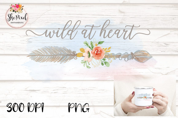 Print on Demand: Wild at Heart Graphic Crafts By Sublimation Hut