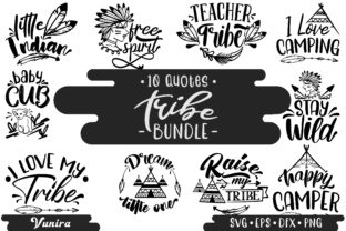 Print on Demand: 10 Tribe Bundle | Lettering Quotes Graphic Crafts By Vunira