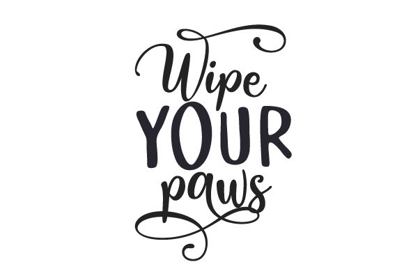 Wipe Your Paws Dogs Craft Cut File By Creative Fabrica Crafts