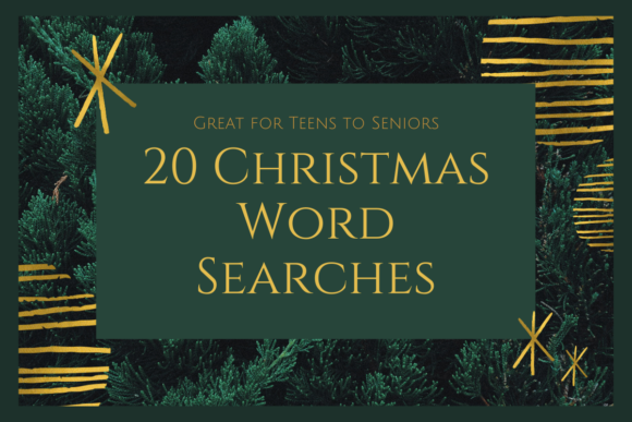 20 Christmas Word Searches Graphic KDP Interiors By Dotcity