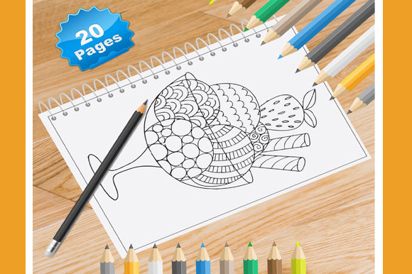 20 Food Coloring Pages Graphic Coloring Pages & Books By Coloring World