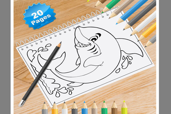 20 Sharks Coloring Pages Graphic Coloring Pages & Books By Coloring World