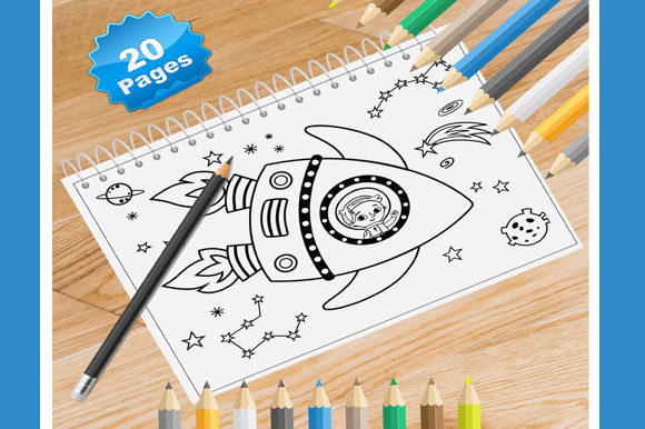 20 Space Coloring Pages Graphic Coloring Pages & Books By Coloring World