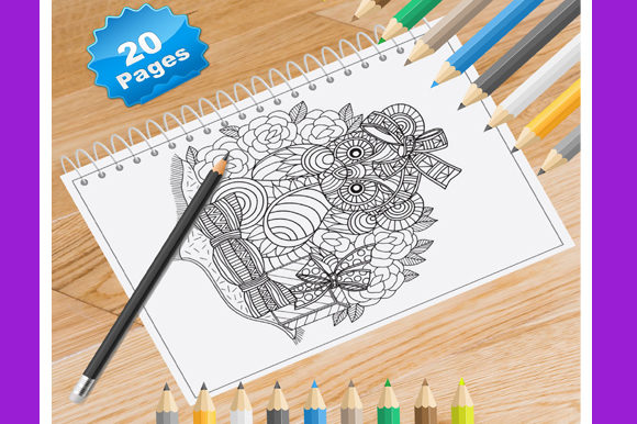 Print on Demand: 20 Tattoo Coloring Pages for Adults Graphic Coloring Pages & Books Adults By Coloring World